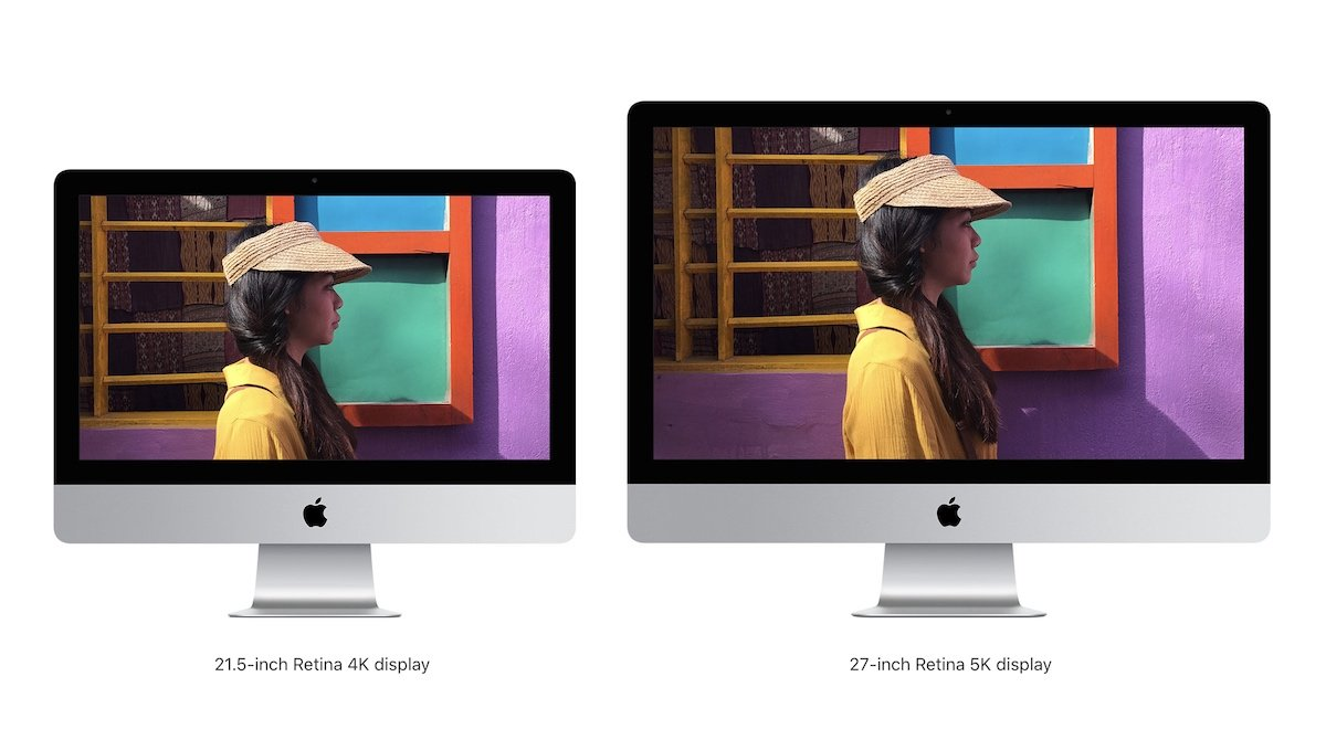 the new imac 21.5 inch and 27 inch retina displays