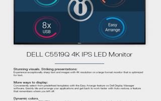 Dell C5519Q 4K IPS LED Monitor