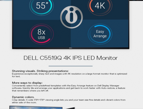 November Promotion – Dell C5519Q 4K IPS LED Monitor